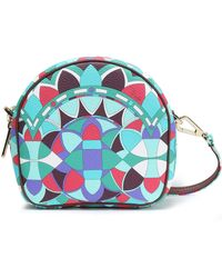 Emilio Pucci - Woman Printed Faux Textured-leather Shoulder Bag Jade - Lyst
