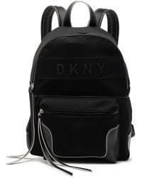 DKNY Pvc-trimmed Canvas Backpack Black