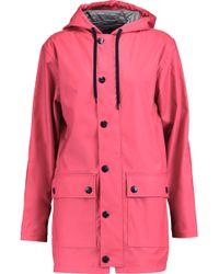 Petit Bateau Shell Hooded Coat - Pink