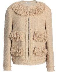 Nina Ricci - Woman Fringe-trimmed Tweed Jacket Sand - Lyst