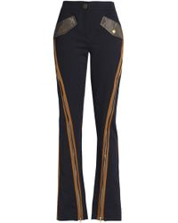 Peter Pilotto - Zip-detailed Cotton-blend Twill Bootcut Pants - Lyst
