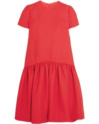 Alexander McQueen - Drop-waist Wool-blend Scuba Dress - Lyst