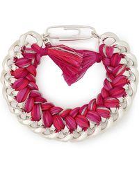 Aurelie Bidermann - Do Brasil Sterling Silver Cord Bracelet - Lyst