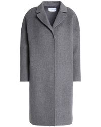 Claudie Pierlot - Mélange Wool-blend Coat Dark Gray - Lyst