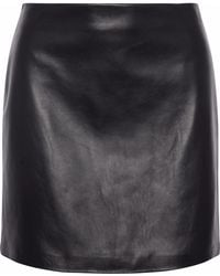 Theory - Leather Mini Skirt - Lyst