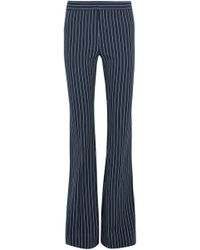 10 Crosby Derek Lam - Striped Stretch-cotton Flared Trousers - Lyst