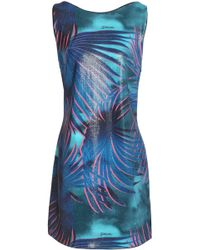 Just Cavalli - Sequined Woven Mini Dress - Lyst