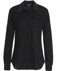 Rochas Corded Lace Top - Black