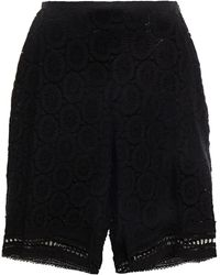 See By Chloé See By Chloé Crocheted Cotton Shorts - Black