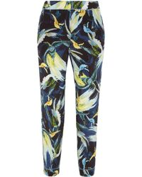 Erdem - Woman Giulia Cropped Printed Silk Crepe De Chine Slim-leg Pants Multicolor - Lyst