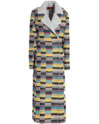 Missoni - Metallic Crochet-knit Coat - Lyst