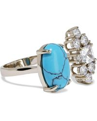 Iosselliani 18-karat Gold-plated, Turquoise And Crystal Ring Turquoise - Blue