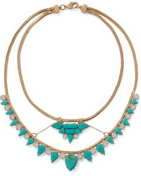 Noir Jewelry 14-karat Gold-plated, Stone And Crystal Necklace - Metallic