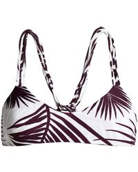Mikoh Swimwear Strap-detailed Printed Triangle Bikini Top - Multicolour