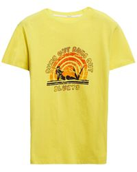Zimmermann Goldie Printed Cotton-jersey T-shirt Yellow