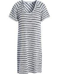 Rag & Bone - Striped Jersey Mini Dress - Lyst