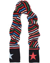 Chinti & Parker - Striped Wool And Cashmere-blend Scarf - Lyst