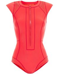 Duskii Perforated Neoprene Swimsuit Red