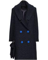 Paper London - Woman Rainbow Metallic Felt Coat Midnight Blue - Lyst