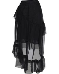 Simone Rocha - Asymmetric Ruffled Tulle Midi Skirt - Lyst