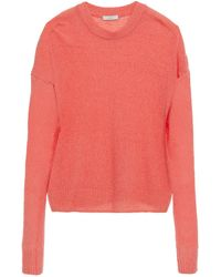 Joie Wool-blend Sweater Coral - Pink