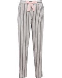 DKNY - Striped Stretch-modal Jersey Pyjama Trousers Pastel Pink - Lyst