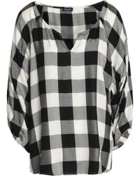 Splendid - Checked Twill Blouse - Lyst