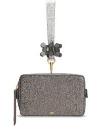 Anya Hindmarch - Color-block Metallic Leather Box Clutch - Lyst