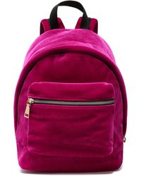 Sandro Velvet Backpack Fuchsia - Purple