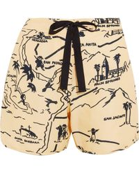 Victoria, Victoria Beckham - Printed Canvas Shorts - Lyst