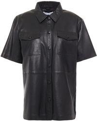 Stand Studio Danna Leather Shirt - Black