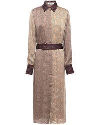 Equipment Christabella Snakeskin Shirt Dress - Brown