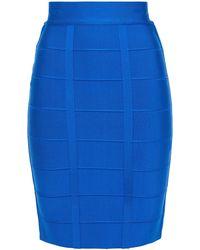 Hervé Léger Hervé Léger Bandage Skirt - Blue
