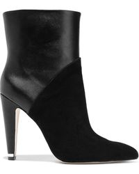 Donna Karan Hadi Leather And Suede Booties - Black