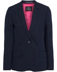 PS by Paul Smith Donegal Woven Blazer - Blue