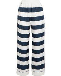 Dolce & Gabbana - Striped Silk-twill High-rise Trousers - Lyst