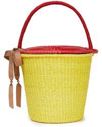 Sensi Studio Fischerhut aus toquilla-stroh mit zierband - Gelb