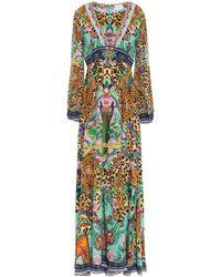 Camilla The Jungle Book Crystal-embellished Printed Silk Crepe De Chine Maxi Dress Animal Print - Multicolor