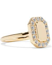 Elizabeth and James - Torrens Gold-tone Crystal Pinky Ring - Lyst