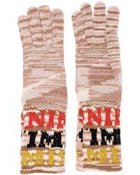 Missoni Intarsia-knit Gloves Sand - Multicolour