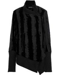 Ann Demeulemeester - Woman Oversized Devoré-velvet And Chiffon Jacket Black - Lyst