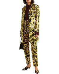 Kwaidan Editions Tiger Print Car Coat - Yellow