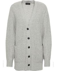 Rag & Bone Mélange Ribbed Cashmere Cardigan Grey - Gray