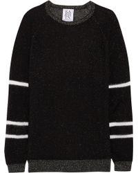 Zoe Karssen - Paneled Metallic Knitted Sweater - Lyst