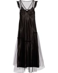 Opening Ceremony   Ruffle-trimmed Tulle Maxi Dress   Lyst