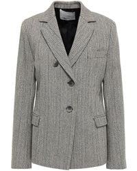 3.1 Phillip Lim Wool-blend Tweed Blazer Light Grey