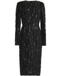 Dolce & Gabbana - Metallic Fil Coupè Crepe Dress - Lyst