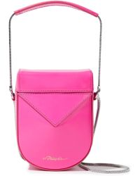 3.1 Phillip Lim - Woman Soleil Glossed-leather Shoulder Bag Bright Pink - Lyst