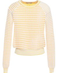 Cotton by Autumn Cashmere Open-knit Cotton Sweater Marigold - Multicolor