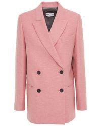 Paul & Joe Doppelreihiger blazer aus filz aus einer wollmischung - Pink